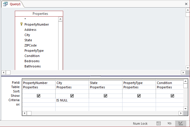 Setting a Condition on a Query to Isolate Records